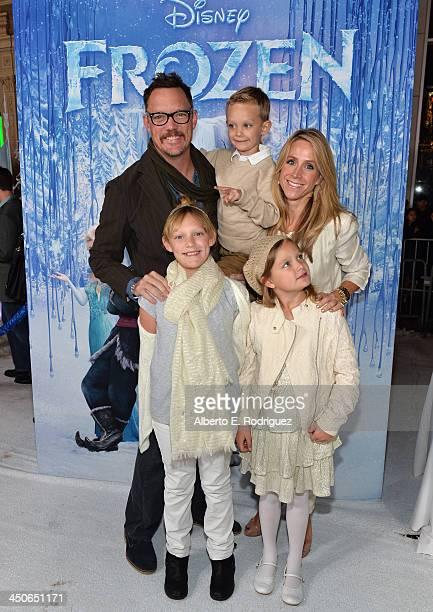 "Actor Matthew Lillard, Heather Helm and family attend The World Premiere of Walt Disney Animation Studios' ""Frozen"" at El Capitan Theatre on November..."