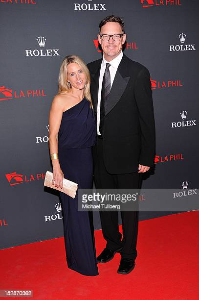 Actor Matthew Lilllard arrives with wife Heather Helm at the Los Angeles Philharmonic Opening Night Concert and Gala at Walt Disney Concert Hall on...