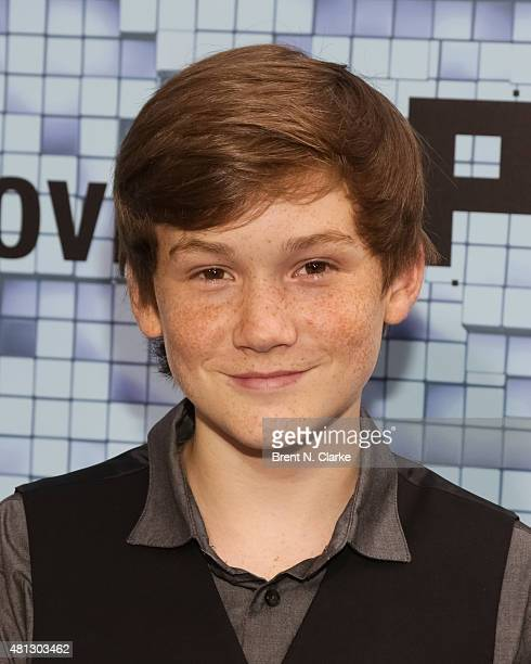 Actor Matthew Lintz arrives at the Pixels New York premiere held at the Regal EWalk on July 18 2015 in New York City
