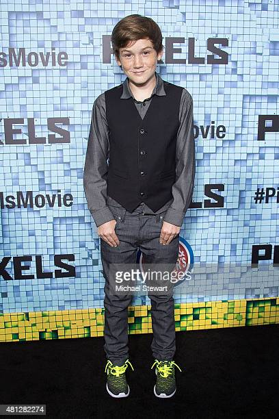 Actor Matthew Lintz attends the 'Pixels' New York premiere at Regal EWalk on July 18 2015 in New York City