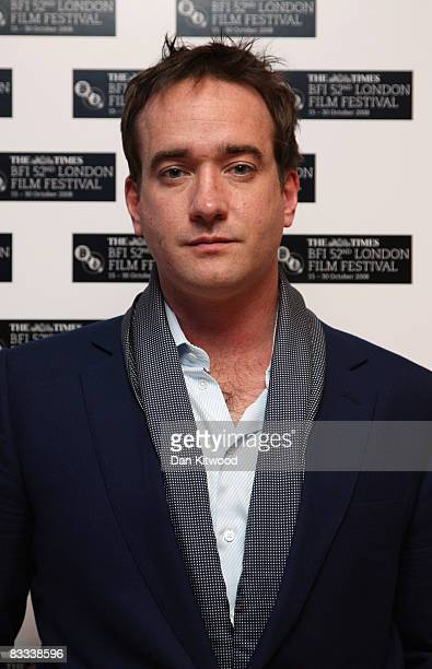 Actor Matthew Macfadyen arrives at the BFI 52nd London Film Festival European Premiere of Incendiary in Leicester Square on October 18 2008 in London...