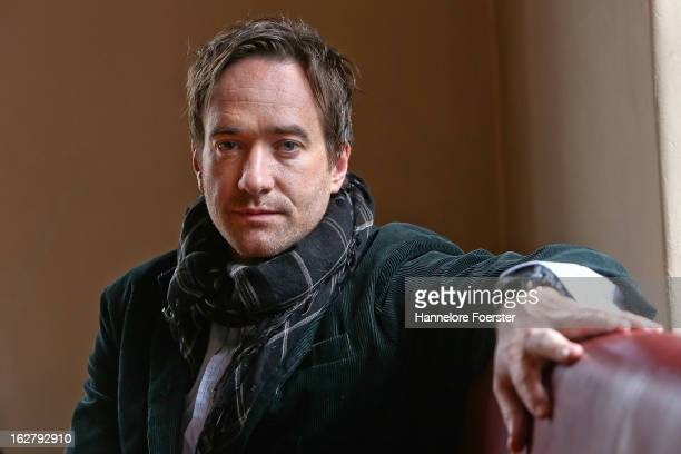 Actor Matthew Macfadyen poses on set during the filming of movie 'Epic' on February 27 2013 in Frankfurt am Main Germany