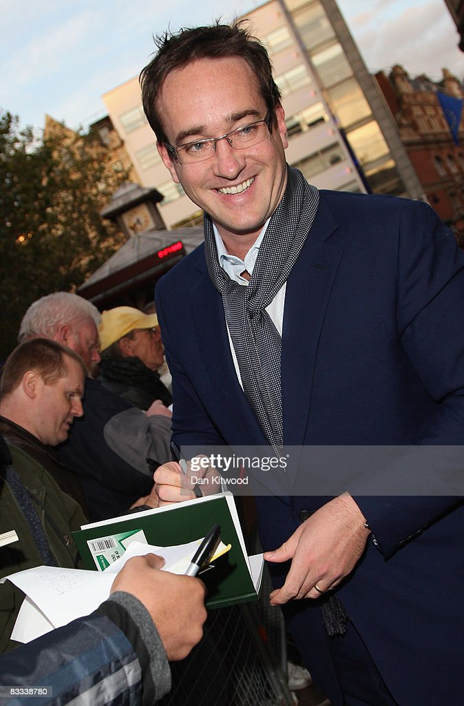 Actor Matthew Macfadyen signs autographs at the BFI 52'nd London Film Festival European premier of Incendiary in Leicester Square on October 18, 2008 in London, England.