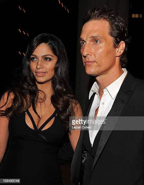 Actor Matthew McConaughey and Camila Alves arrive at the 2010 MusiCares Person Of The Year Tribute To Neil Young at the Los Angeles Convention Center...