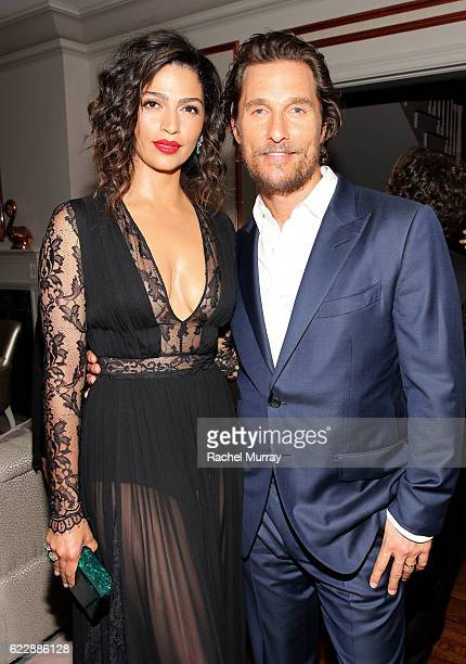 Actor Matthew McConaughey and Camila Alves attend as The Weinstein Company celebrates the cast and filmmakers of Sing Street Lion The Founder and...