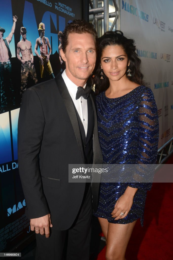 Actor Matthew McConaughey and Camila McConaughey arrive at the closing night gala premiere of 'Magic Mike' at the 2012 Los Angeles Film Festiva held at Regal Cinemas L.A. Live on June 24, 2012 in Los Angeles, California.