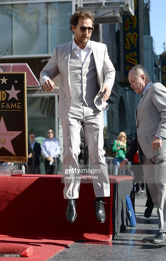 Actor Matthew McConaughey and his family Camila Alves, Levi McConaughey, Livingston McConaughey , and Vida McConaughey attend The Hollywood Walk Of Fame ceremony for Matthew McConaughey on November 17, 2014 in Hollywood, California.