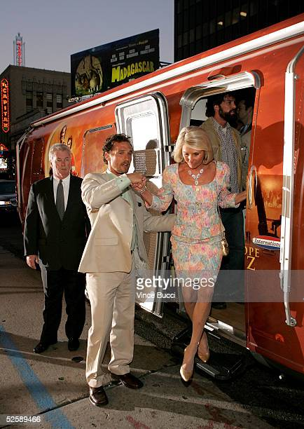 Actor Matthew McConaughey and his mother arrive at Paramount Pictures premiere of SAHARA at the Grauman's Chinese Theater on April 4 2005 in...