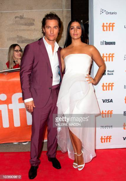 US actor Matthew McConaughey and his wife US/Brazilian model Camila Alves attend the premiere of White Boy Rick during the Toronto International Film...