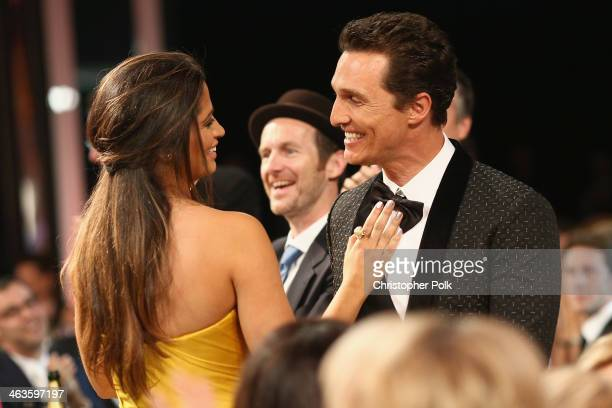 Actor Matthew McConaughey and model Camila Alves 20th Annual Screen Actors Guild Awards at The Shrine Auditorium on January 18 2014 in Los Angeles...