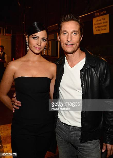 Actor Matthew McConaughey and model Camila Alves attend Spike TV's 'Guys Choice 2014' at Sony Pictures Studios on June 7 2014 in Culver City...