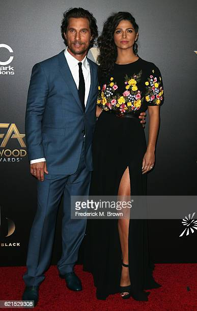 Actor Matthew McConaughey and model Camila Alves attend the 20th Annual Hollywood Film Awards on November 6 2016 in Beverly Hills California