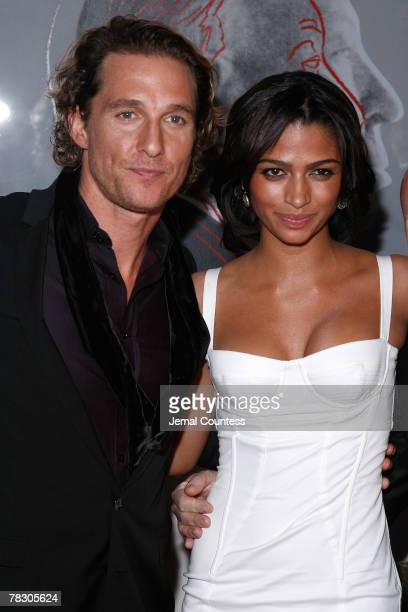 Actor Matthew McConaughey and model Camila Alves attend the Dolce Gabbana's The One Fragrance Launch and Private Dinner at The Grammercy Park Hotel...