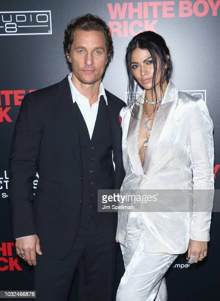 Actor Matthew McConaughey and model Camila Alves attend the New York special screening of White Boy Rick hosted by Columbia Pictures and Studio 8 at...