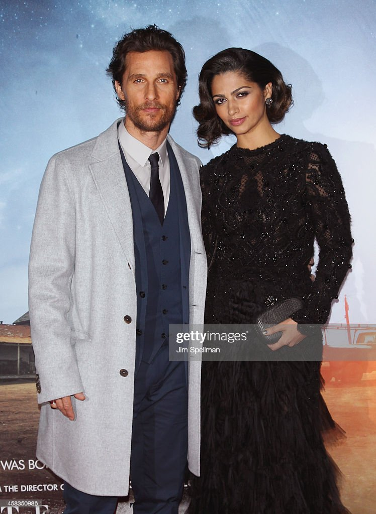 Actor Matthew McConaughey and model Camila Alves attend the 'Interstellar' New York Premiere at AMC Lincoln Square Theater on November 3, 2014 in New York City.