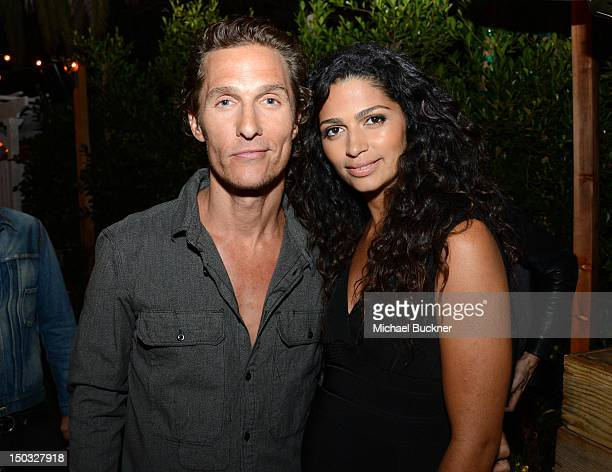 Actor Matthew McConaughey and model Camila McConaughey attend NYLON Guys and Macy's INC Celebrate the September Issue with host Matthew McConaughey...