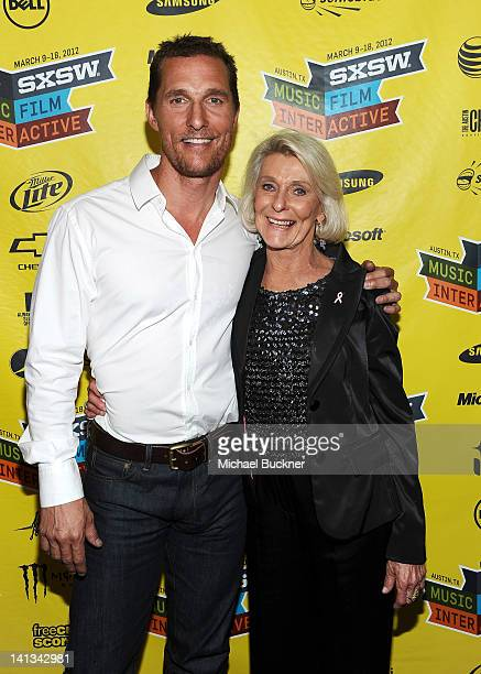 Actor Matthew McConaughey and mother Kay McConaughey attend the world premiere of Bernie during the 2012 SXSW Music Film Interactive Festival at...