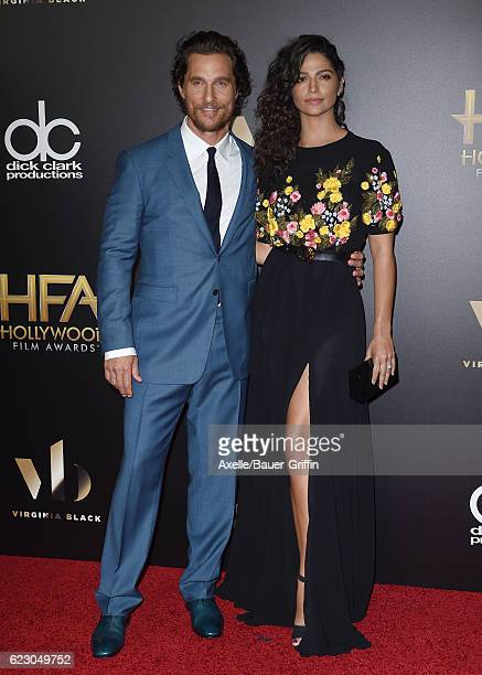 Actor Matthew McConaughey and wife Camila Alves arrive at the 20th Annual Hollywood Film Awards at the Beverly Hilton Hotel on November 6 2016 in Los...