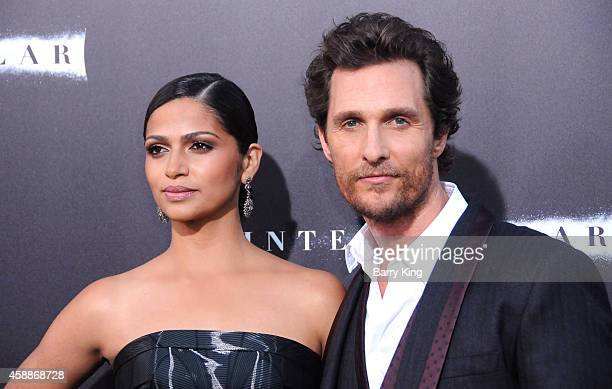 Actor Matthew McConaughey and wife Camila Alves arrive at the Los Angeles Premiere of 'Interstellar' at TCL Chinese Theatre IMAX on October 26 2014...