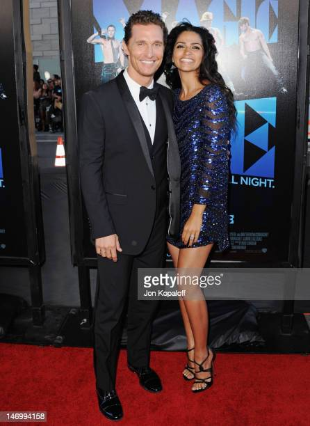 """Actor Matthew McConaughey and wife Camila Alves arrive at the """"Magic Mike"""" Closing Night Premiere at the 2012 Los Angeles Film Festival at Regal..."""