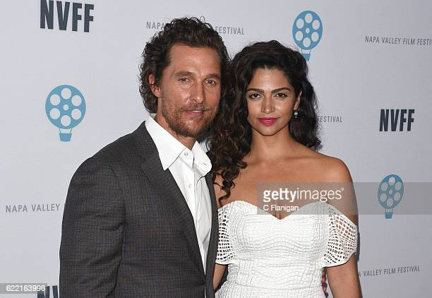 Actor Matthew McConaughey and wife Camila Alves attend the Caldwell Vineyards Maverick Actor Tribute during the 6th Annual Napa Valley Film Festival...