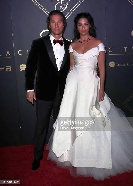 Actor Matthew McConaughey and wife Camila Alves attend the City Gala 2018 at Universal Studios Hollywood on March 4 2018 in Universal City California
