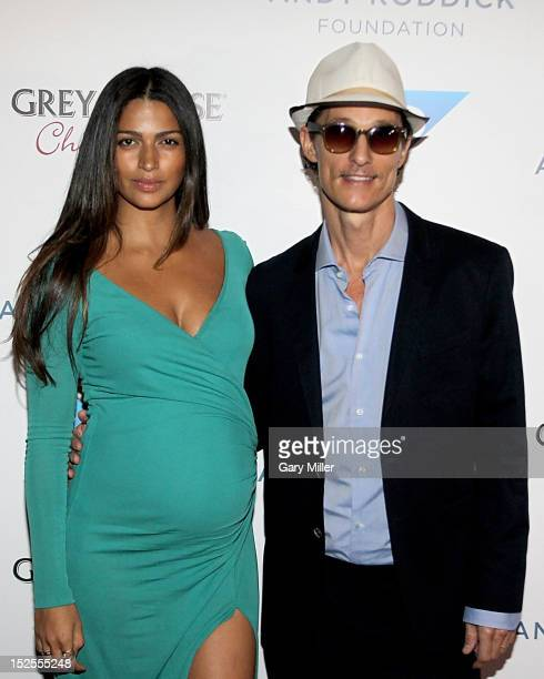Actor Matthew McConaughey and wife Camila Alves walk the red carpet during the 7th Annual Andy Roddick Foundation Gala at ACL Live on September 21...