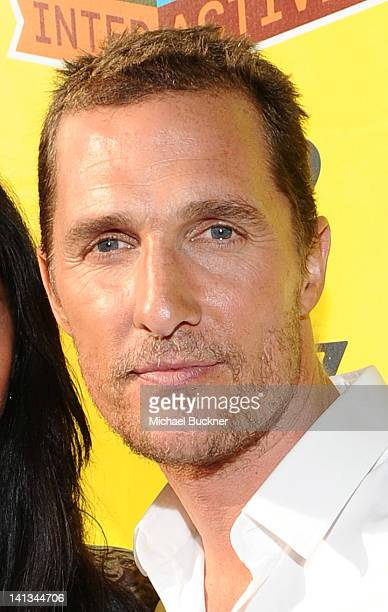 Actor Matthew McConaughey arrive at the World Premiere of Bernie during the 2012 SXSW Music Film Interactive Festival at Paramount Theatre on March...