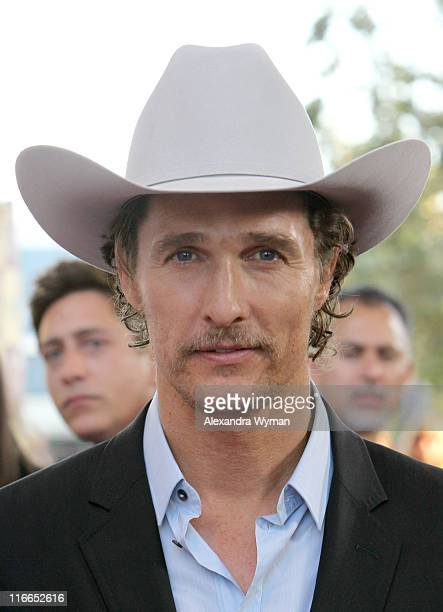 Actor Matthew McConaughey arrives at the 2011 Los Angeles Film Festival opening night premiere of Bernie held at Regal Cinemas LA Live on June 16...