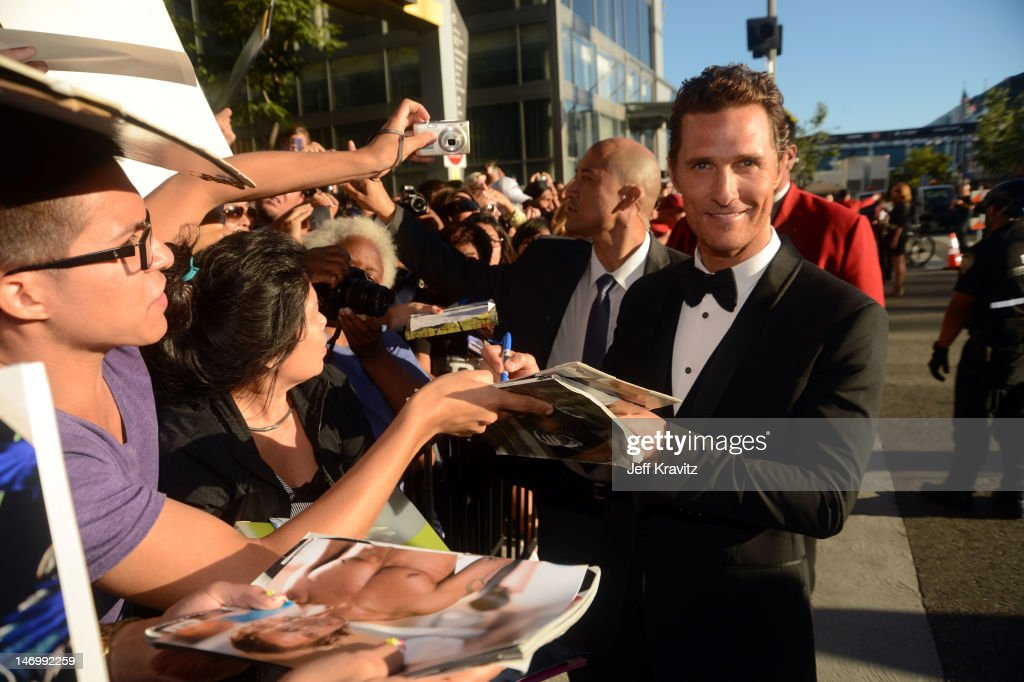 Actor Matthew McConaughey arrives at the closing night gala premiere of 'Magic Mike' at the 2012 Los Angeles Film Festiva held at Regal Cinemas L.A. Live on June 24, 2012 in Los Angeles, California.