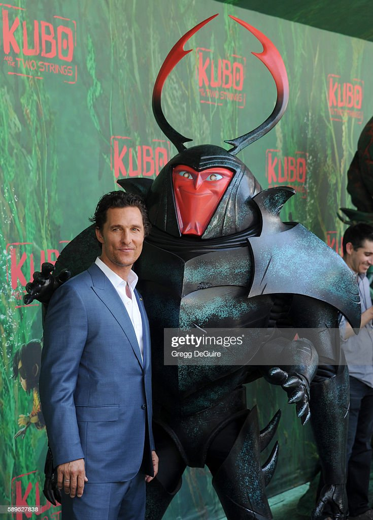 Actor Matthew McConaughey arrives at the premiere of Focus Features' 'Kubo And The Two Strings' at AMC Universal City Walk on August 14, 2016 in Universal City, California.