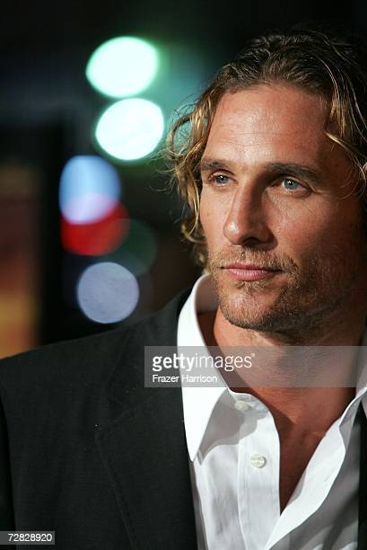 Actor Matthew McConaughey arrives at the Warner Bros premiere of 'We Are Marshall' held at the Grauman's Chinese Theatre on December 14 2006 in...