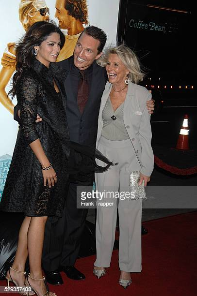Actor Matthew McConaughey arrives with his fiance Camila Alves and his mother at the world premiere of Fool's Gold held at Grauman's Chinese Theater...