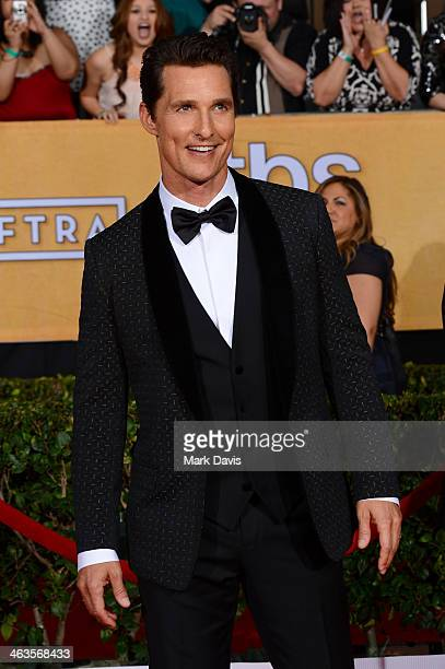 Actor Matthew McConaughey attends 20th Annual Screen Actors Guild Awards at The Shrine Auditorium on January 18, 2014 in Los Angeles, California.