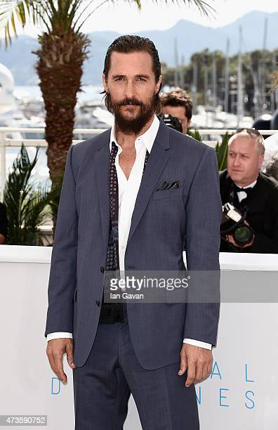Actor Matthew McConaughey attends a photocall for 'The Sea Of Trees' during the 68th annual Cannes Film Festival on May 16 2015 in Cannes France