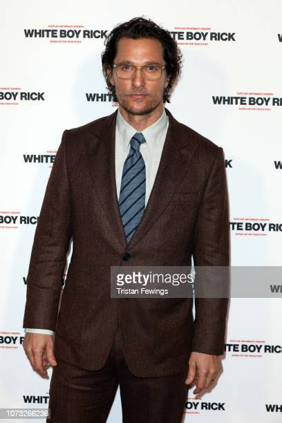 Actor Matthew McConaughey attends a special screening of White Boy Rick at Picturehouse Central on November 27 2018 in London England