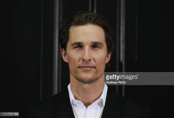 Actor Matthew McConaughey attends 'Der Mandant' Berlin photocall at Hotel de Rome on April 6 2011 in Berlin Germany