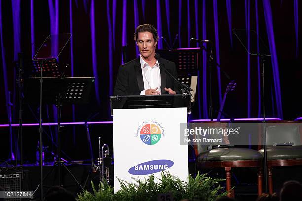 Actor Matthew McConaughey attends Samsung's 9th Annual Four Seasons of Hope Gala at Cipriani Wall Street on June 15, 2010 in New York City.
