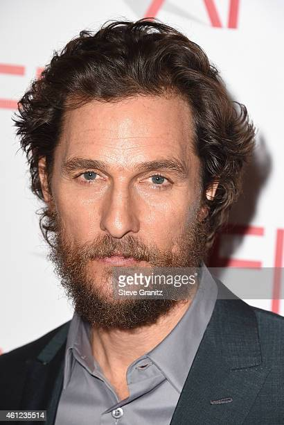 Actor Matthew McConaughey attends the 15th Annual AFI Awards at Four Seasons Hotel Los Angeles at Beverly Hills on January 9, 2015 in Beverly Hills,...