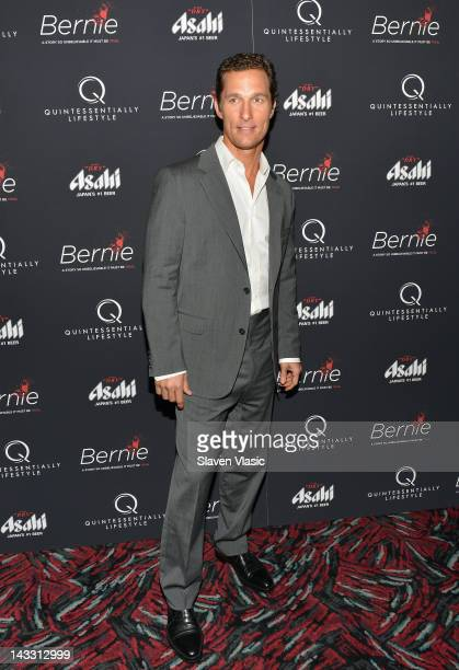 Actor Matthew McConaughey attends the Bernie New York Premiere at AMC Loews 19th Street East 6 theater on April 23 2012 in New York City