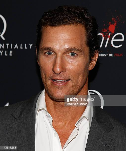 Actor Matthew McConaughey attends the Bernie premiere at the AMC Loews 19th Street Theater on April 23 2012 in New York City