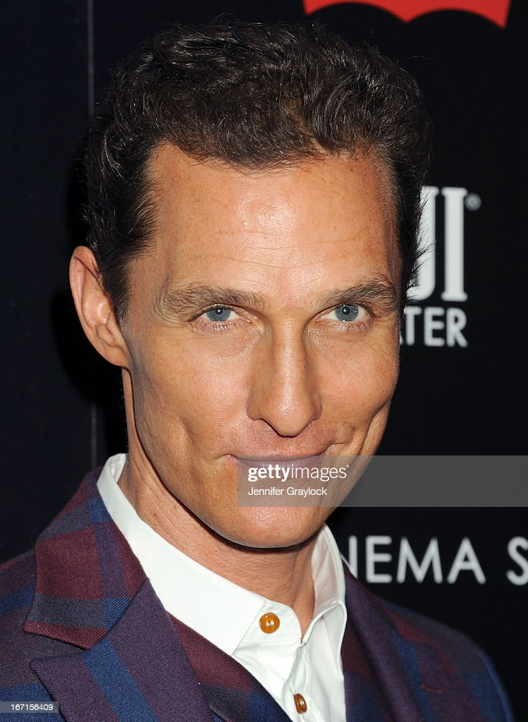 Actor Matthew McConaughey attends The Cinema Society Screening Of 'Mud' hosted by Fiji Water and Levis held at The Museum of Modern Art on April 21, 2013 in New York City.