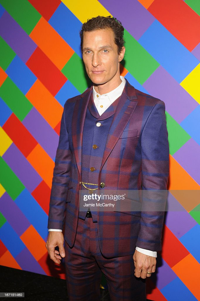Actor Matthew McConaughey attends the Cinema Society with FIJI Water & Levi's screening of 'Mud' at The Museum of Modern Art on April 21, 2013 in New York City.