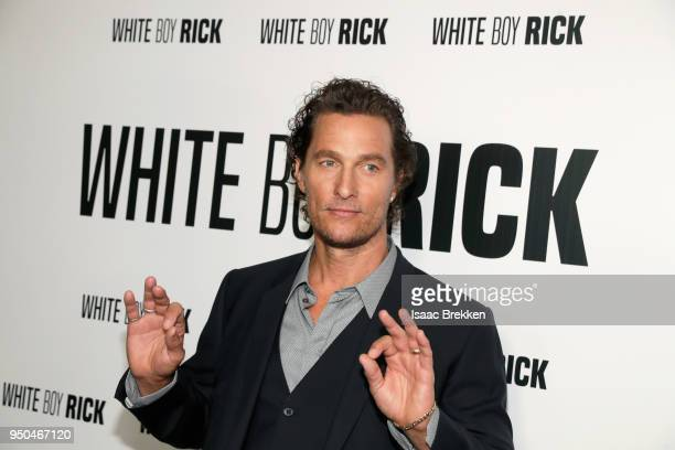 Actor Matthew McConaughey attends the CinemaCon 2018 Gala Opening Night Event Sony Pictures Highlights its 2018 Summer and Beyond Films at The...