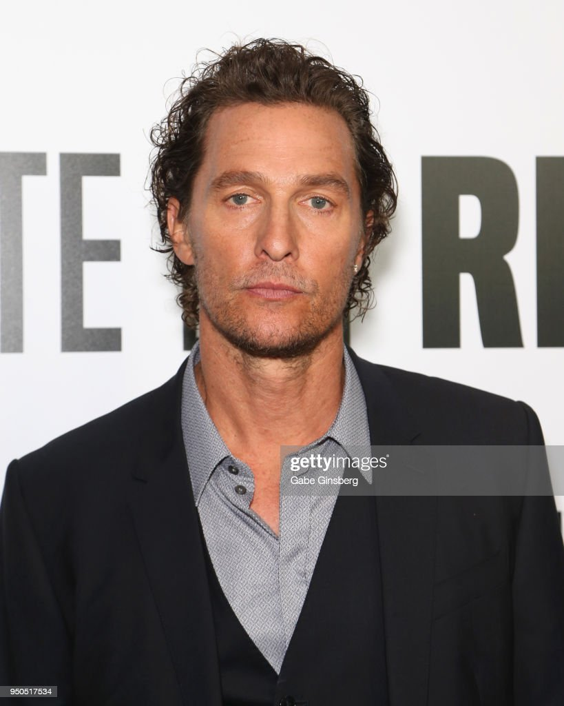 Actor Matthew McConaughey attends the CinemaCon 2018 Gala Opening Night Event: Sony Pictures Highlights its 2018 Summer and Beyond Films at The Colosseum at Caesars Palace during CinemaCon, the official convention of the National Association of Theatre Owners,on April 23, 2018 in Las Vegas, Nevada.