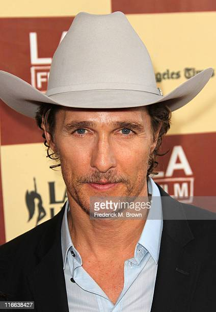 Actor Matthew McConaughey attends the Film Independent's 2011 Los Angeles Film Festival Opening Night Premiere of Bernie at the Regal Cinemas L A...