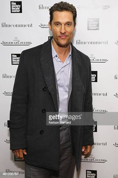 Actor Matthew McConaughey attends The Film Society of Lincoln Centers Film Comment Best Films of 2013 Luncheon presented by JaegerLecoultre at The...