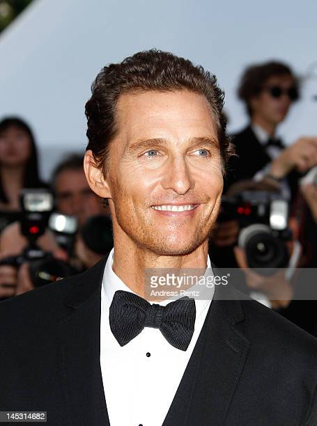 Actor Matthew McConaughey attends the 'Mud' Premiere during the 65th Annual Cannes Film Festival at Palais des Festivals on May 26 2012 in Cannes...