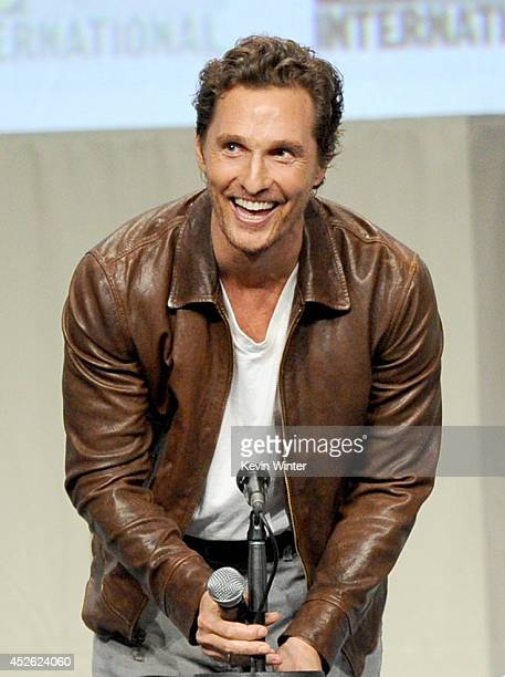 Actor Matthew McConaughey attends the Paramount Studios presentation during ComicCon International 2014 at the San Diego Convention Center on July 24...
