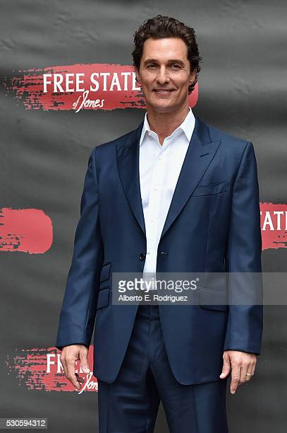 Actor Matthew McConaughey attends the photo call for STX Entertainment's Free State Of Jones at Four Seasons Hotel Los Angeles at Beverly Hills on...
